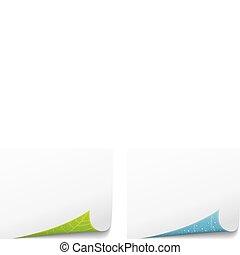 meio ambiente, curl., concept., papel, página