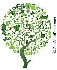 meio ambiente, eco, árvore verde