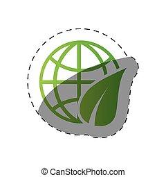 meio ambiente, globo mundial, desenho