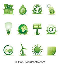 meio ambiente, jogo, ícone