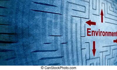 meio ambiente, labirinto, conceito