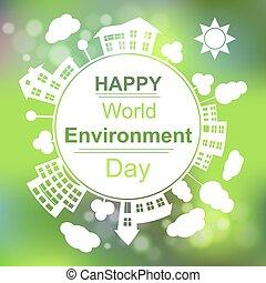 meio ambiente, mundo, dia, feliz