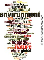 meio ambiente, palavra, nuvem