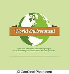 meio ambiente, terra, palavra, dia, fundo