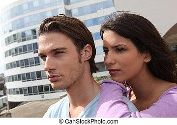 meio ambiente, urbano, par, jovem