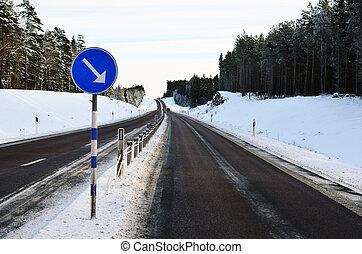 meio, estrada