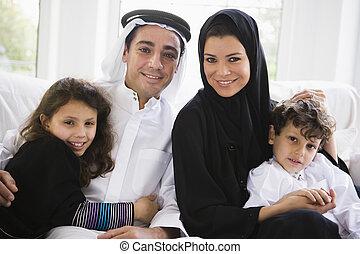 meio, família, oriental