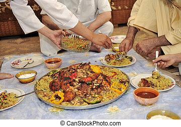 meio oriental, alimento