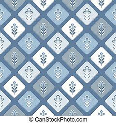 meio, padrão, floral, seamless, século, papel parede, fundo...