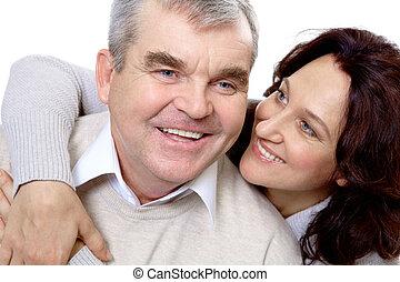 meio, par, envelhecido