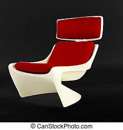 meio, século, cadeira