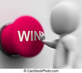 meios, ganhe, competição, lugar, apertado, 1º, ou, vitória
