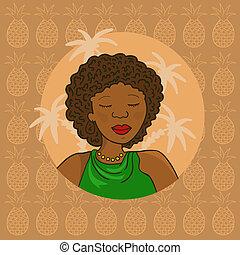 meisje, afrikaan, mooi