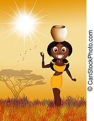 meisje, afrikaan
