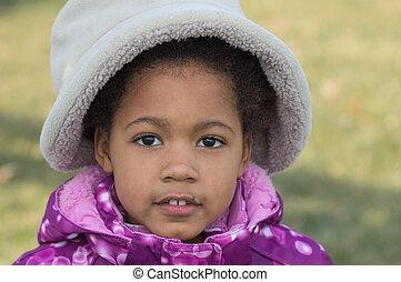 meisje, afrikaans-amerikaan