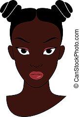 meisje, afro