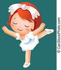 meisje, ballet danser