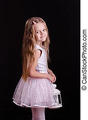 meisje, blaker, five-year