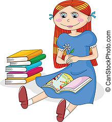 meisje, boek