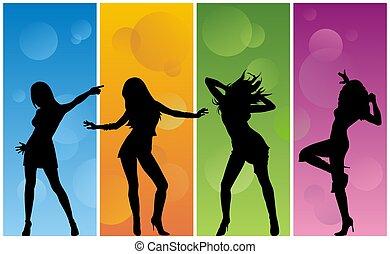 meisje, dancing