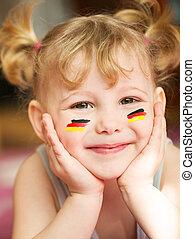 meisje, europeaan