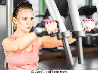 meisje, gym