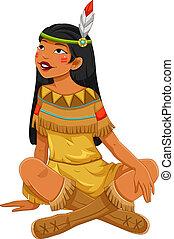 meisje, indiër