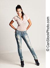 meisje, jeans