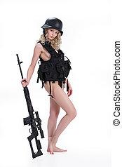 meisje, militair