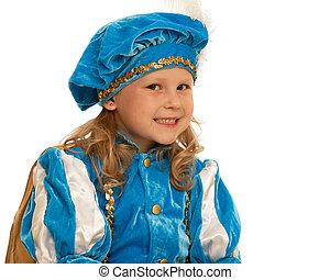 meisje, mooi, carnaval, kostuum