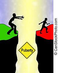 meisje, puberteit