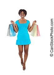 meisje, shoppen , aantrekkelijk