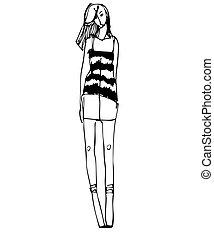 meisje, slank