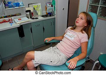 meisje, tandkundige werkkring