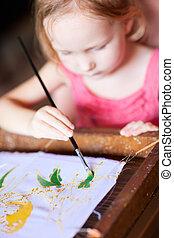 meisje, tekening
