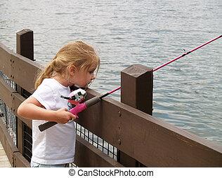 meisje, visserij