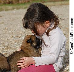 meisje, weinig; niet zo(veel), dog