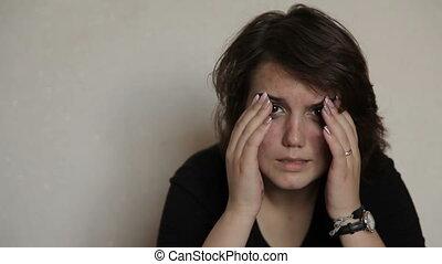 meisje, zelfmoord, tiener, het schreeuwen