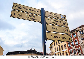 meissen in germany sign