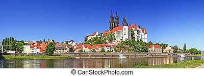 Meissen on the Elbe river, Germany