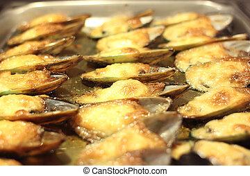 mejillones, cocido al horno