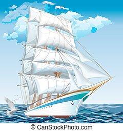 mejor, crucero, ships., colección, de, yates, barcos, y,...