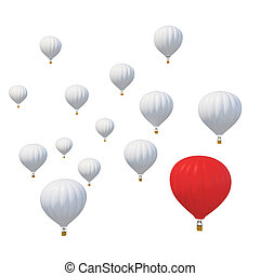 mejor, de, casta, concepto, con, un, candente, aire, globo, y, el estar parado hacia fuera, de, el, resto, aislado, blanco, fondo.