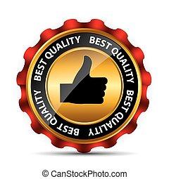 mejor, opción, etiqueta, con, rojo, ribbon., vector, ilustración
