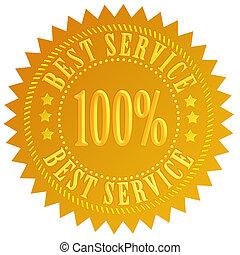 mejor, servicio, sello