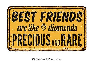 mejores amigos, ser, como, diamantes, precioso, y, raro,...