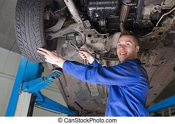 mekaniker, reparation, bil