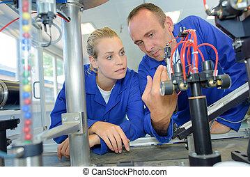 mekanisk, ingenjörsvetenskap, laboratorium