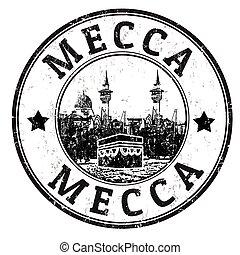mekka, postzegel