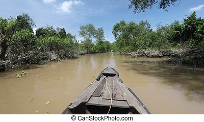 Mekong Delta Rowing - A rowboat trip along a tributary of ...